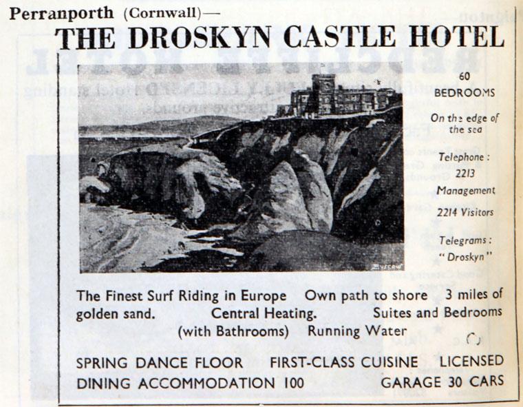 Droskyn Castle Hotel - circa 1950