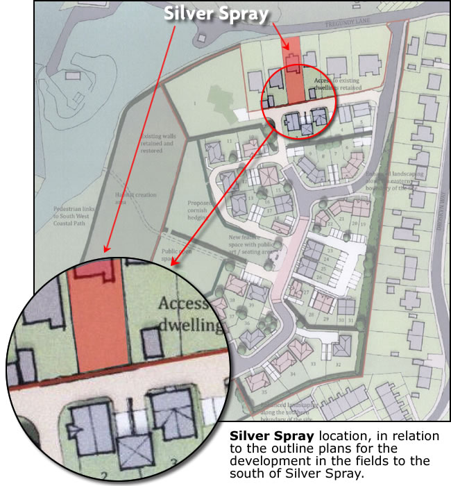Proposed Droskyn Development plans - impact on Silver Spray
