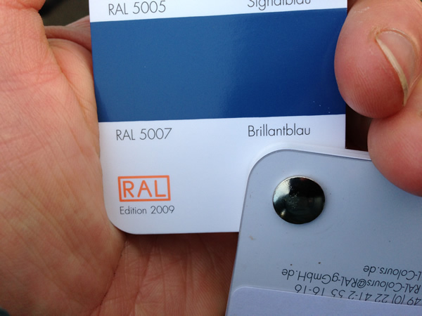 RAL 5007 colour swatch