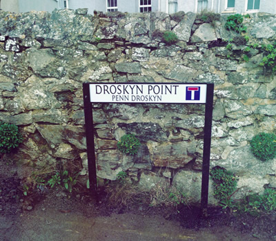 Droskyn Point street sign