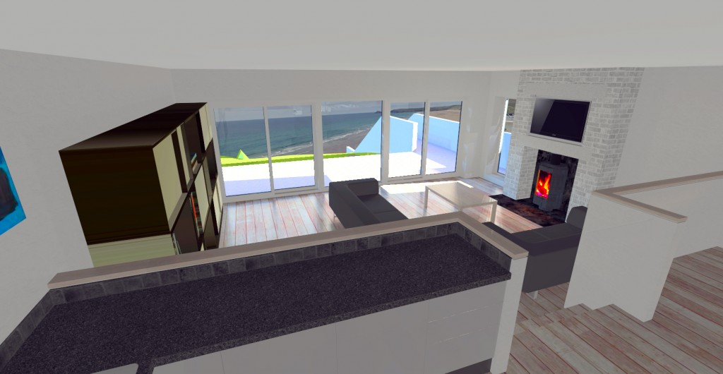 Early CAD impression of the lounge
