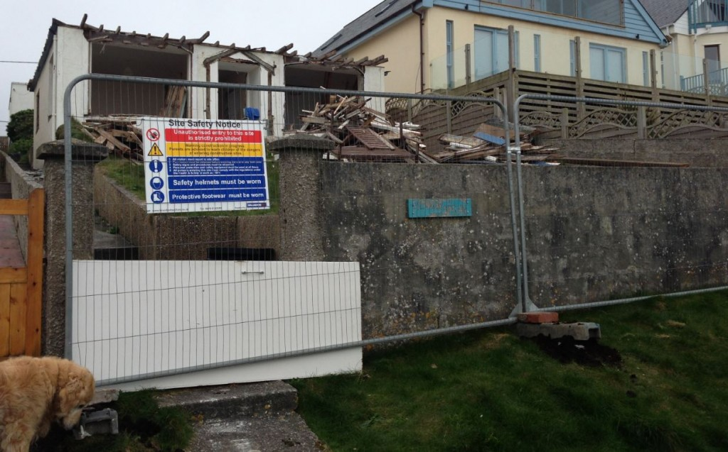Site safety fencing and notices