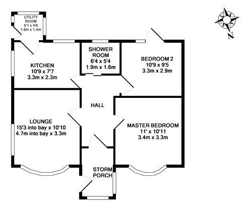 Bungalow floor plan