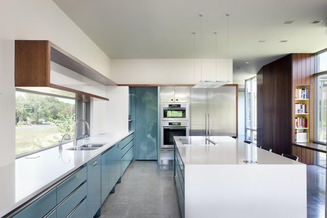 modern-kitchen_flat panel doors